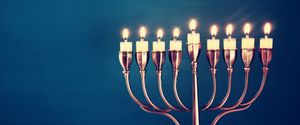 GLOWING CELEBRATION DREIDEL MENORAH BURNING JUDAISM BACKGROUNDS RELIGION CULTURES SEASON FLAME CANDLE SYMBOL HANUKKAH CHANNUKAH HANUKA HANUKKIAH