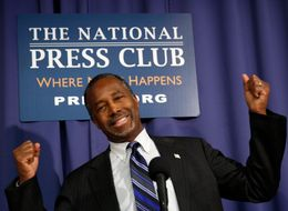 HUFFPOST HILL - HUD Secretary Ben Carson, Handing Out Slips Of Paper That Just Say