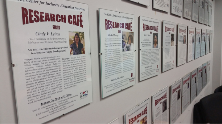 <i>The Research Café provides a way for Ph.D. candidates to share their work in a supportive environment</i>