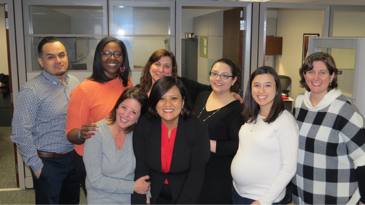 <i>The CIE staff: Angel Gonzalez, Karian Wright, Kathryne Piazzola, Nina Maung, Donna Scala, Sheri Clark, Julianna Pryor