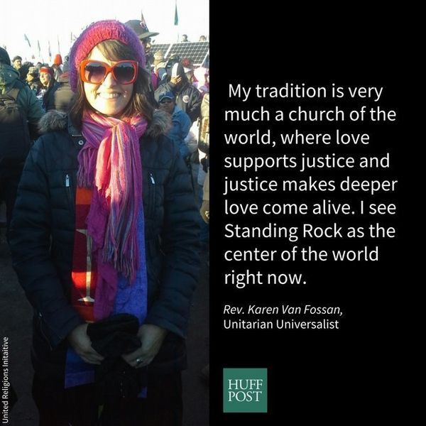 I'm the minister of the Unitarian Universalist congregation in Bismarck, ND. I'm honored to stand with Standing Rock. My trad
