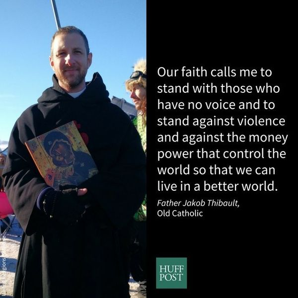I am Fr. Jakob from Providence, RI, and I'm an Old Catholic. I stand with Standing Rock because our faith calls me to s
