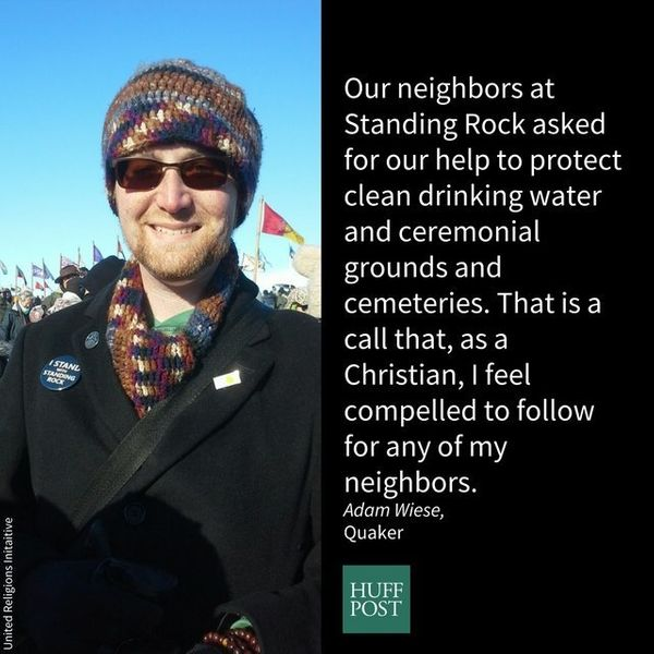 I am from the Bismarck bi-monthly meeting of the Society of Friends (Quakers). I stand with Standing Rock because not a very