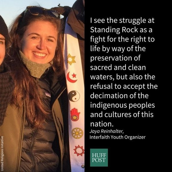 I am an interfaith youth organizer. I stand with Standing Rock because as a believer in the sacredness of all life, I see the