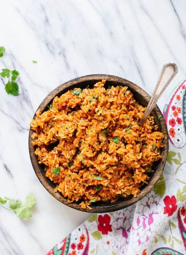 """<strong>Get the <a href=""""http://cookieandkate.com/2016/mexican-brown-rice-recipe/"""" target=""""_blank"""">Mexican Brown Rice recipe<"""