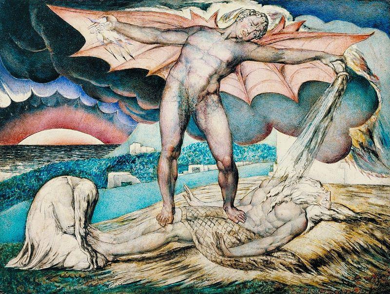 William Blake (1757-1823), Satan Smiting Job with Sore Boils