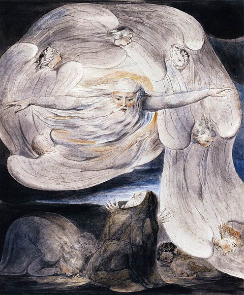 William Blake, Job Confessing his  Presumptions to God who Answers from the Whirlwind