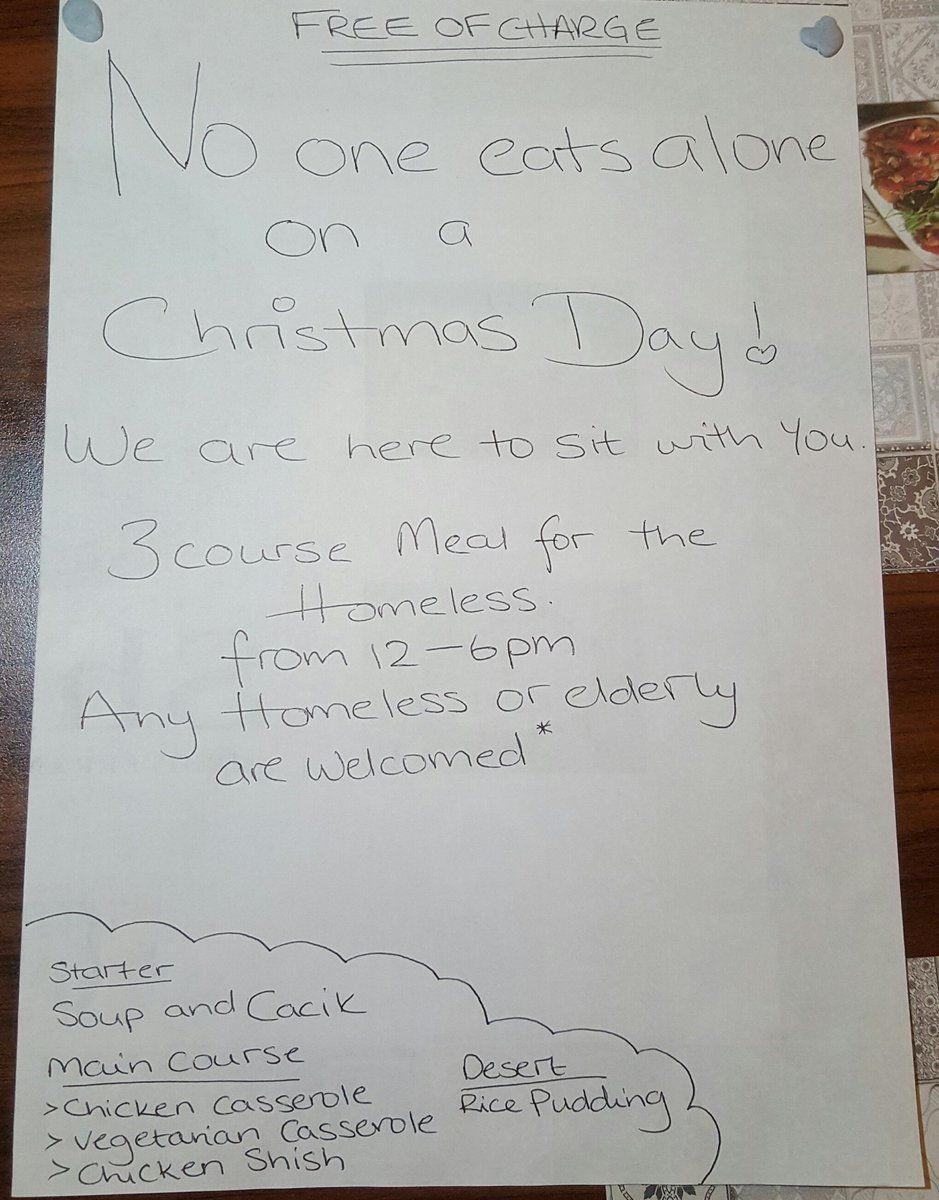 Muslim-Owned Restaurant Offers Free Xmas Dinners To The Elderly And