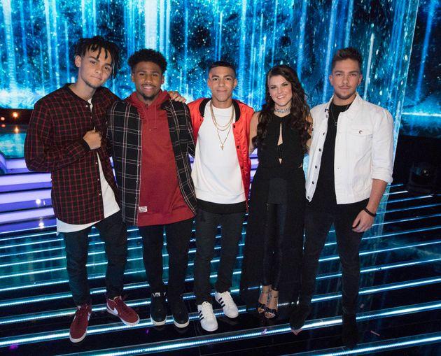 This year's 'X Factor' finalists - 5 After Midnight, Saara Aalto and Matt