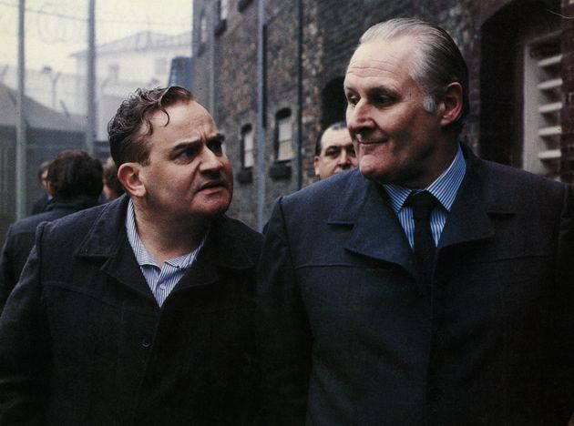Peter Vaughan (right) starred alongside Ronnie Barker in