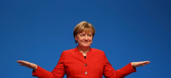 Angela Merkel Wins Re-Election As Chair Of Her CDU Party