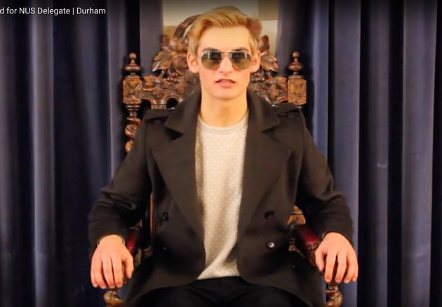 Wannabe NUS delegate Tom Harwood has created a bizarre video to try and win