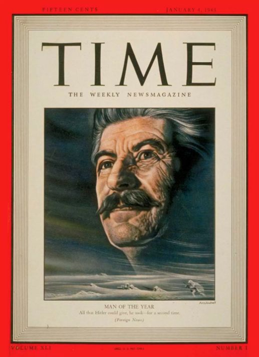 Joseph Stalin cuts a heroic figure as Time's 1942 Man Of The