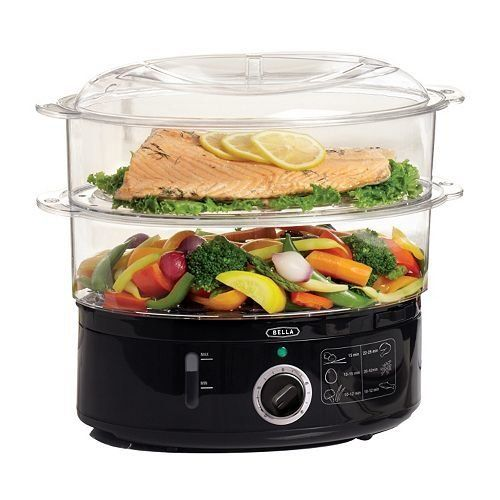 "Bella 7-liter multi-tier food steamer, $34.99 at <a href=""http://www.kohls.com/product/prd-1255191/bella-7-liter-multi-tier-f"