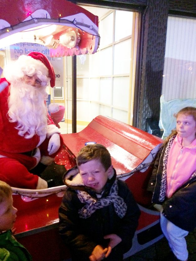 Dylan Taylor, pictured above with his sister Katie, was told he was on the 'naughty list' by Santa in...