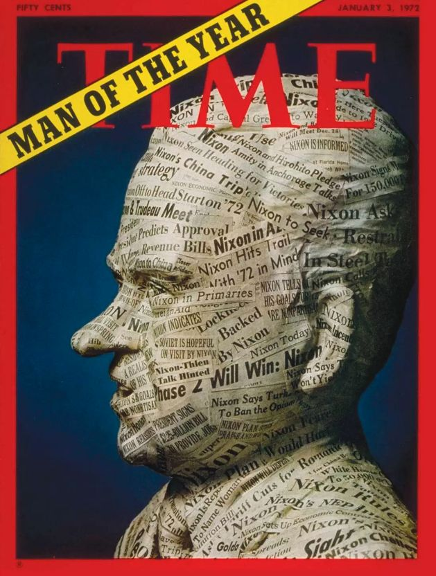 Richard Nixon is the 1971 Man Of The