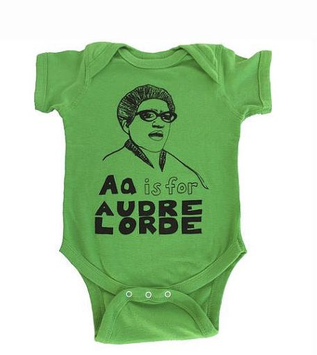 baby guess outlet vgrr  4 A Is For Audra Lorde Onesie