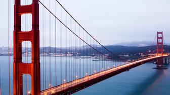 Golden Gate Bridge over San Francisco Bay, California, United States