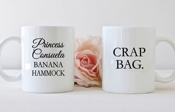 "Funny quotes mugs, $21.99, <a href=""https://www.etsy.com/listing/492785531/couples-mug-set-friends-tv-show-princess?ga_order="