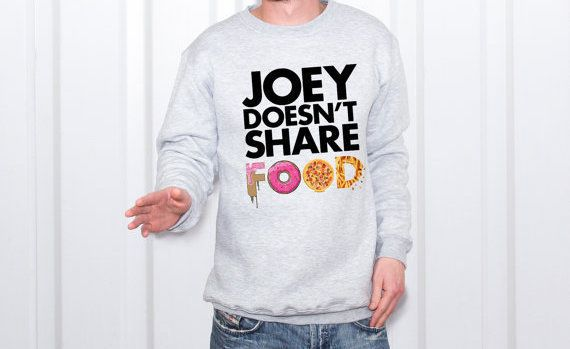 "Joey sweatshirt, $20.99,<a href=""https://www.etsy.com/listing/486512999/joey-friends-friends-tv-show-sweatshirt?ga_order=most"