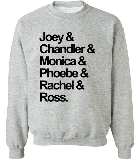 "Cast sweatshirt, $23.59, <a href=""https://www.etsy.com/listing/487042905/friends-tv-show-sweatshirt-shirt?ga_order=most_relev"