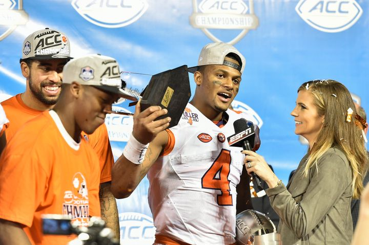 """In an interview with HuffPost, Ponder -- interviewing Clemson star quarterback Deshaun Watson -- says: """"It was important to m"""