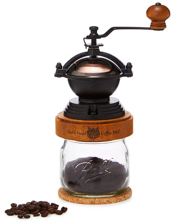"""<a href=""""http://www.uncommongoods.com/product/steampunk-coffee-grinder"""" target=""""_blank"""">Steampunk coffee grinder</a>, $65 at"""