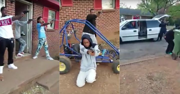 Alabama authorities raided a Huntsville property that appearedin a mannequin challenge video, arresting two people.