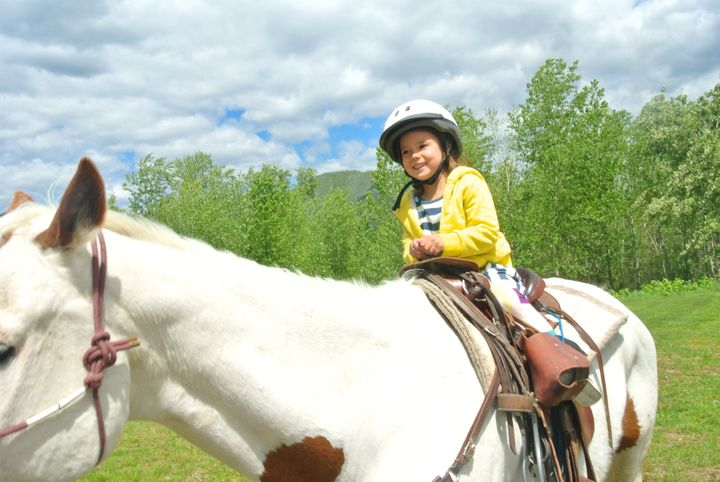 Zeesy horseback riding near Glacier National Park