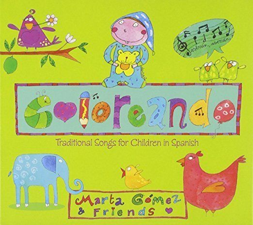 "$13.19, Marta Gomez.&nbsp;<a href=""https://www.amazon.com/Coloreando-Traditional-Songs-Children-Spanish/dp/B00FEFOINQ?tag=the"