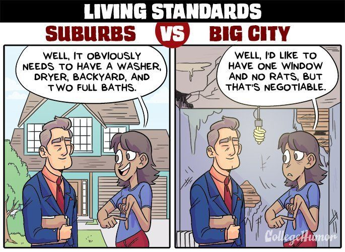 suburban life vs city life Secondly, the virtue of city life is totally dependent on your job  now that i have experienced city and suburban life, maybe our next move will be to a farm.