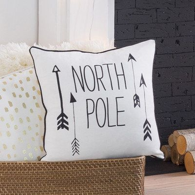 """Decorative holiday pillow, $10.99, <a href=""""https://www.wayfair.com/Artistic-Weavers-Holiday-North-Pole-Pillow-HOLI7243-1818-"""