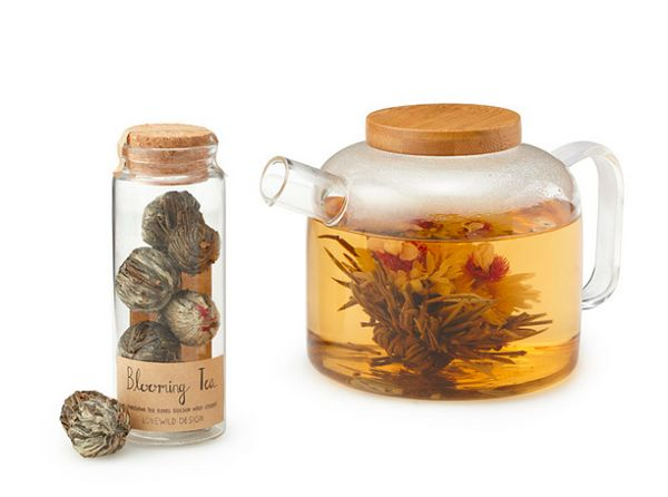 "<a href=""http://www.uncommongoods.com/product/blooming-tea"" target=""_blank"">Blooming tea</a>, $21 at <a href=""http://www.unco"