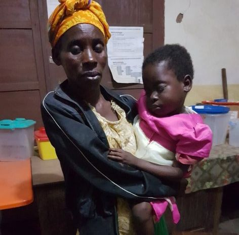 Sophie Sakala, 38, with her 6-year-old daughter, Abija. Both were diagnosed with sleeping