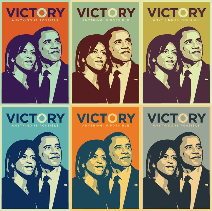 <strong>Obama Victory Print to commemorate his historic win</strong>