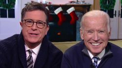 Pops Joe Biden And Dad Stephen Colbert Give America A Much-Needed Pep