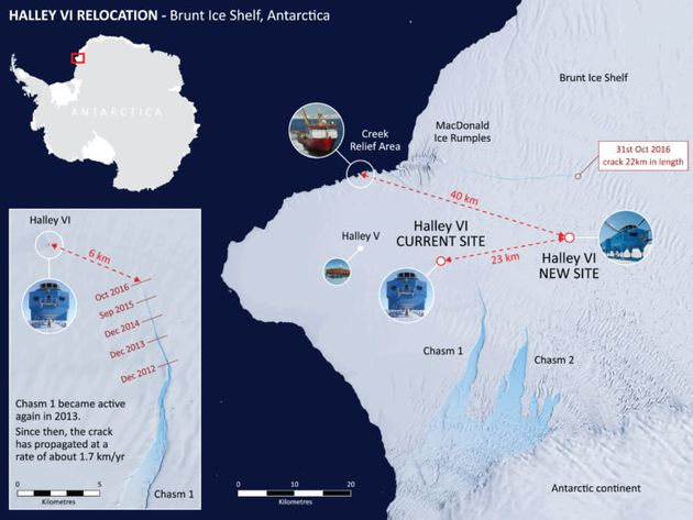 Antarctic Research Station To Be Relocated, As Ice Shelf Cracks Around