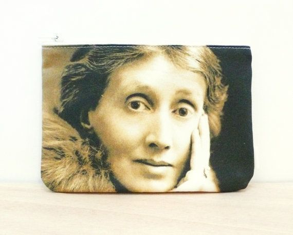 "$19.83. <a href=""https://www.etsy.com/listing/464644092/virginia-woolf-pouch-fabric-purse-pencil?ga_order=most_relevant&amp;g"