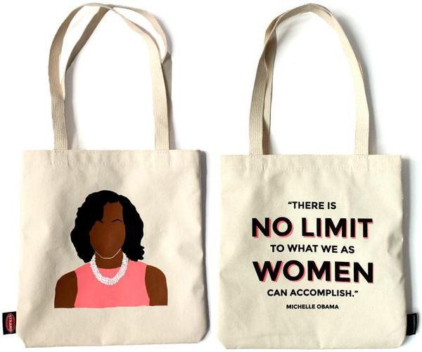 "$18.95. <a href=""http://www.strandbooks.com/product/tote-michelle-obama-icon/"" target=""_blank"">Buy it here.</a>"