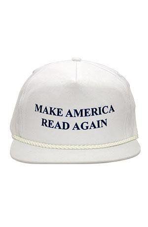 "$19.95. <a href=""http://www.strandbooks.com/hats/hat-make-america-read-again"" target=""_blank"">Buy it here.</a>"