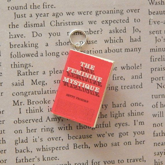 "$8.00. <a href=""https://www.etsy.com/listing/492548223/the-feminine-mystique-book-necklace?ga_order=most_relevant&amp;ga_sear"
