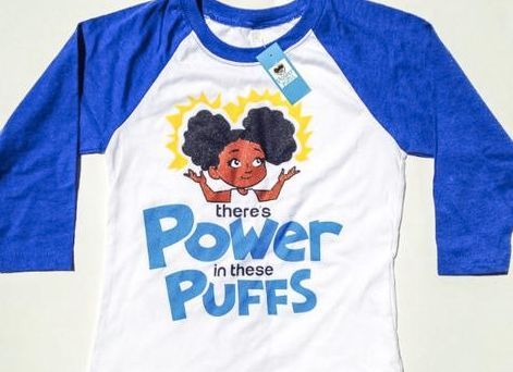 "The power of the puffs! <a href=""https://www.cocopieclothing.com/collections/kids/products/power-puff-3-4-raglan-mikayla-tee?"