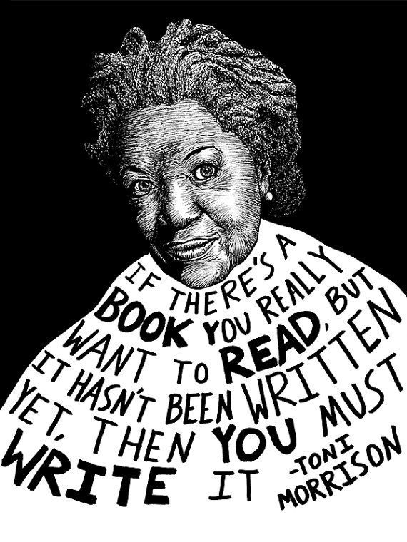 "$15.00. <a href=""https://www.etsy.com/listing/156133760/toni-morrison-authors-series-by-ryan?ref=market"" target=""_blank"">Buy"