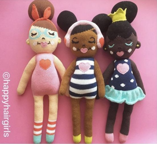 "Pick from one of three handmade dolls or score all three for $125. <a href=""https://happyhairshop.com/collections/frontp"