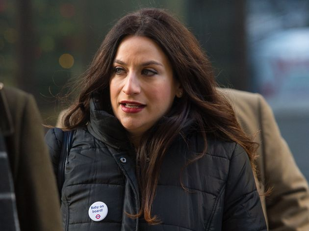 Luciana Berger arriving at the Old Bailey in London where blogger Joshua Bonehill-Paine stood