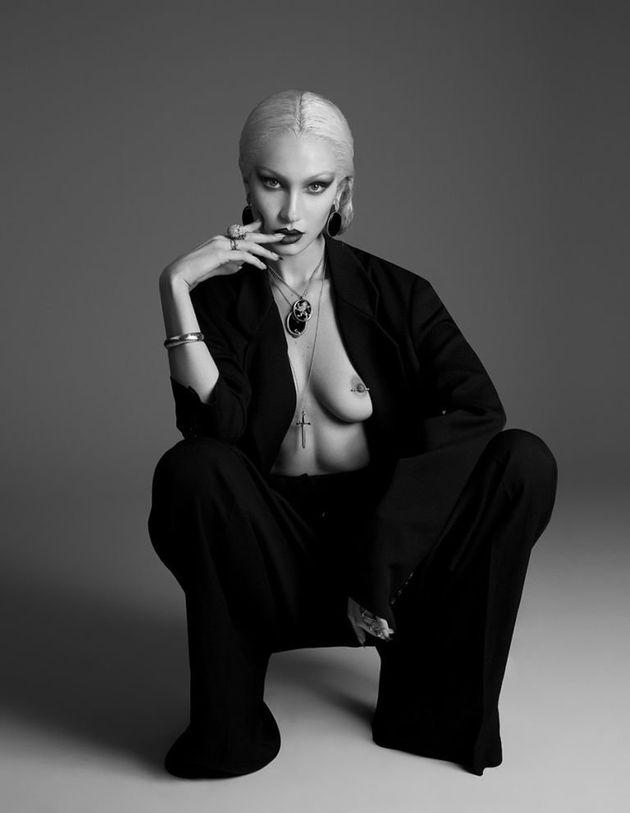 Bella Hadid Goes Topless, Reveals Nipple Piercing In Paper