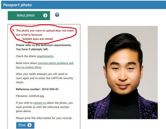 Passport Robot Tells Man Of Asian Descent His Eyes Are Too