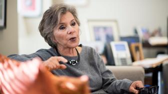 UNITED STATES - DECEMBER 1: Sen. Barbara Boxer, D-Calif., speaks tin Roll Call in her office in the Hart building at the Capitol on Friday, Dec. 2, 2016. (Photo By Bill Clark/CQ Roll Call)
