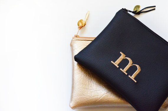"Monogram clutch, $29.95, <a href=""https://www.etsy.com/listing/255079268/personalized-gift-for-her-monogram?ga_order=most_rel"