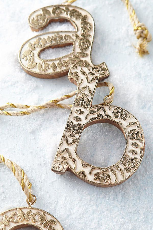 "Vined monogram ornament, $8, <a href=""https://www.anthropologie.com/shop/vined-monogram-ornament?category=SEARCHRESULTS&c"